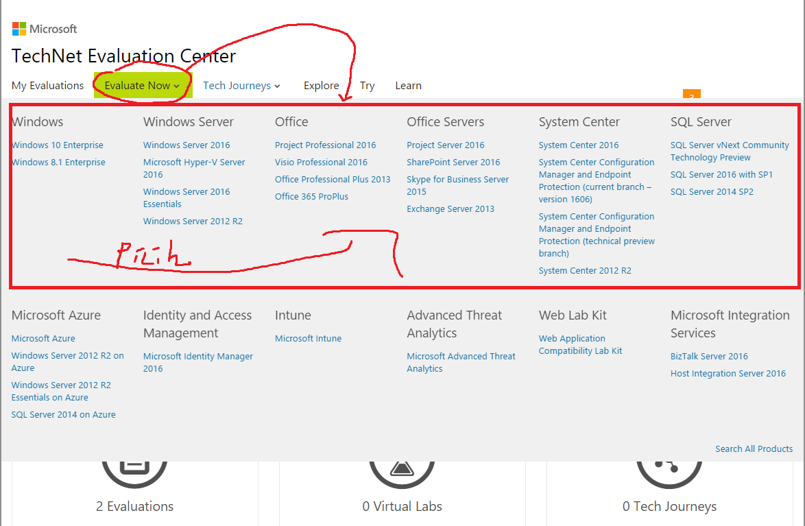 cara download windows original di TechNet Evaluation Center