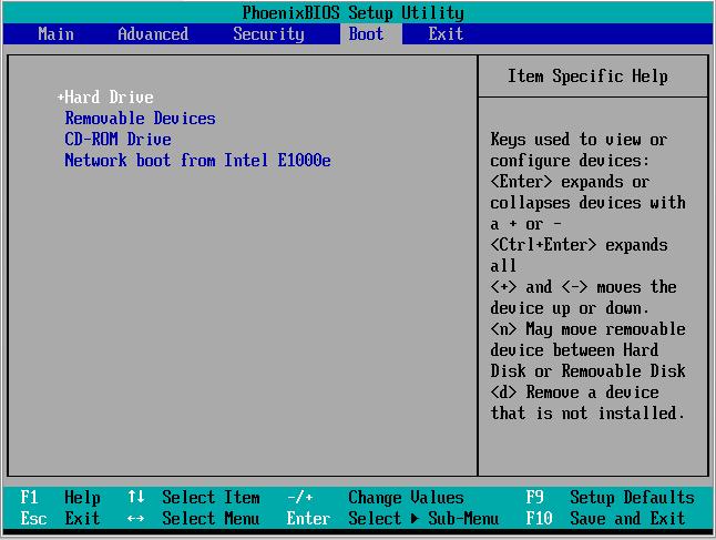 menu BOOT pada BIOS