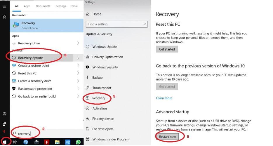 cara  masuk UEFI BIOS di windows 10