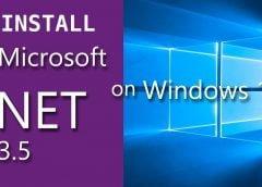 cara mengaktifkan .net framework 3.5 windows 8.1 dan windows 10