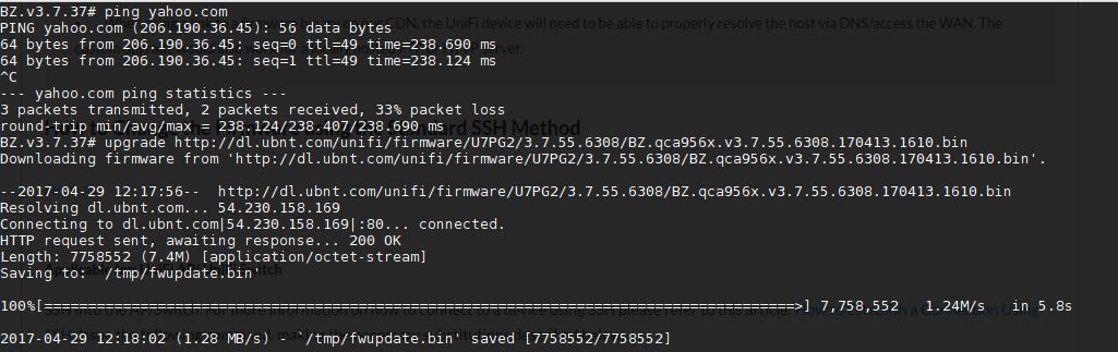 cara upgrade unifi firmware dengan SSH online