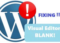Cara memperbaiki visual editor tinymce wordpress error blank