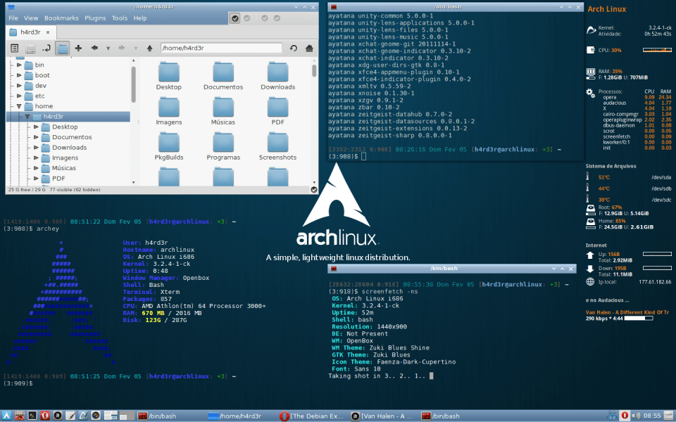 arch linux fully customizable Linux