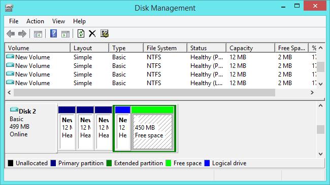 mengatur partisi MBR pada windows menggunakan disk management tool