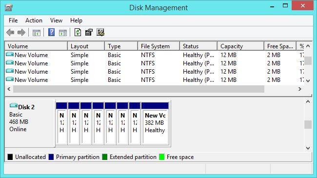 mengatur partisi GPT lebih dari 4 partisi menggunakan disk management tool