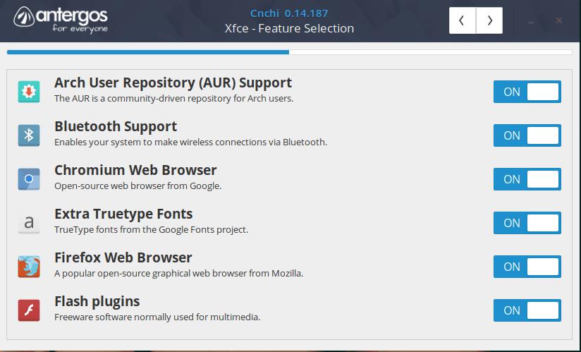 memilih aplikasi yang akan diinstall otomatis antergos installer