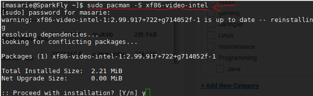 install intel vga driver via terminal