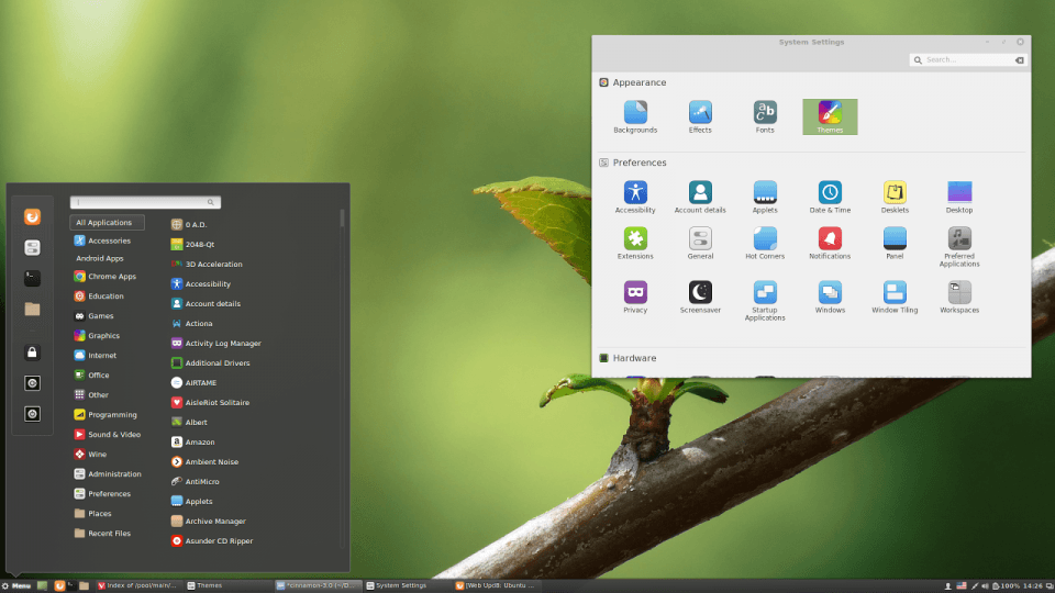 desktop linux mint cinnamon