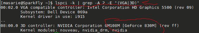 cek model dan tipe independen GPU
