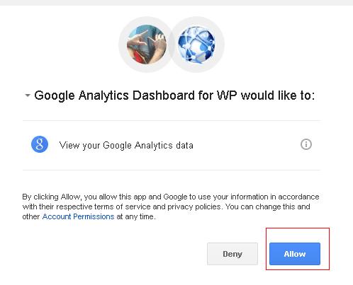 mengijinkan plugin wordpress untuk mengakses google analytics data