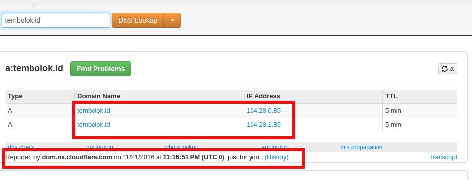 Mengecek proses update DNS Record dengan MX toolbox
