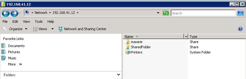 membuka fiile sharing linux dari windows