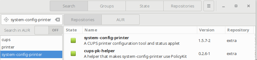 cara menginstall system config printer sebagai GUI Front end CUPS