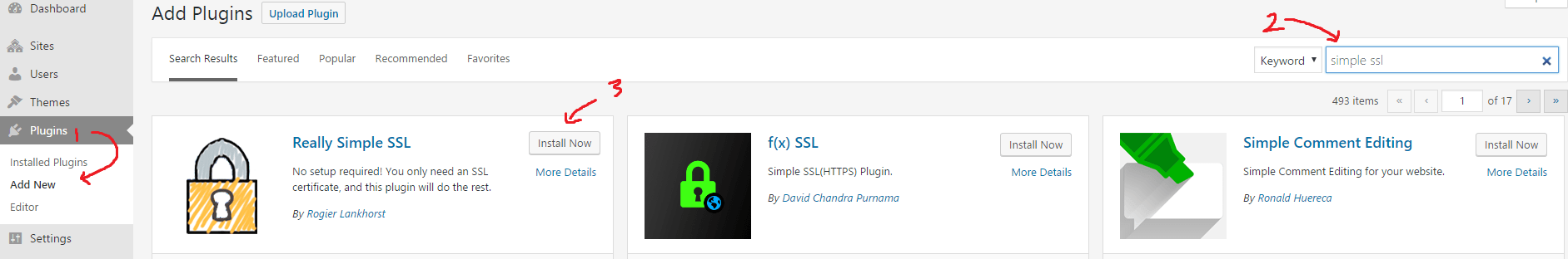 cara menginstall plugin really simple SSL wordpress