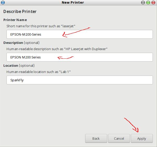 menentukan driver yang tepat untuk local printer menggunakan GUI CUPS