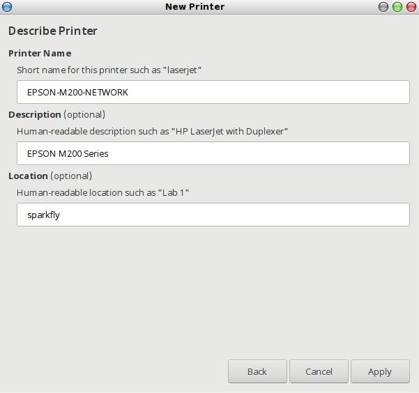 menentukan driver untuk printer yang akan dikelola dengan GUI CUPS pada linux