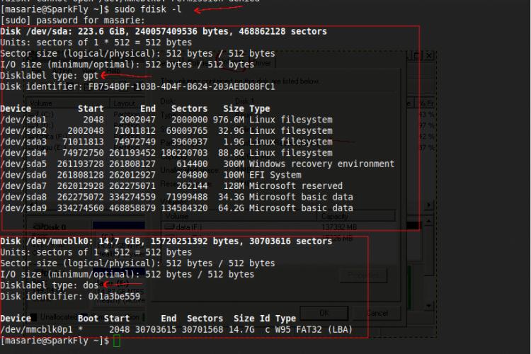 cara mengetahui disk partition table pada linux