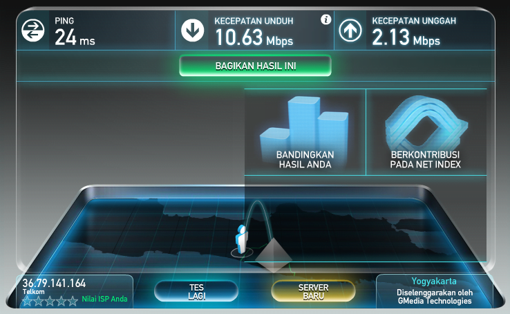 car amelakukan test bandwidth internet yang kita gunakan