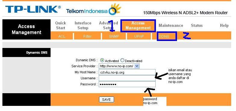 mengguanakn Dynamic DNS pada Modem ADSL Speedy