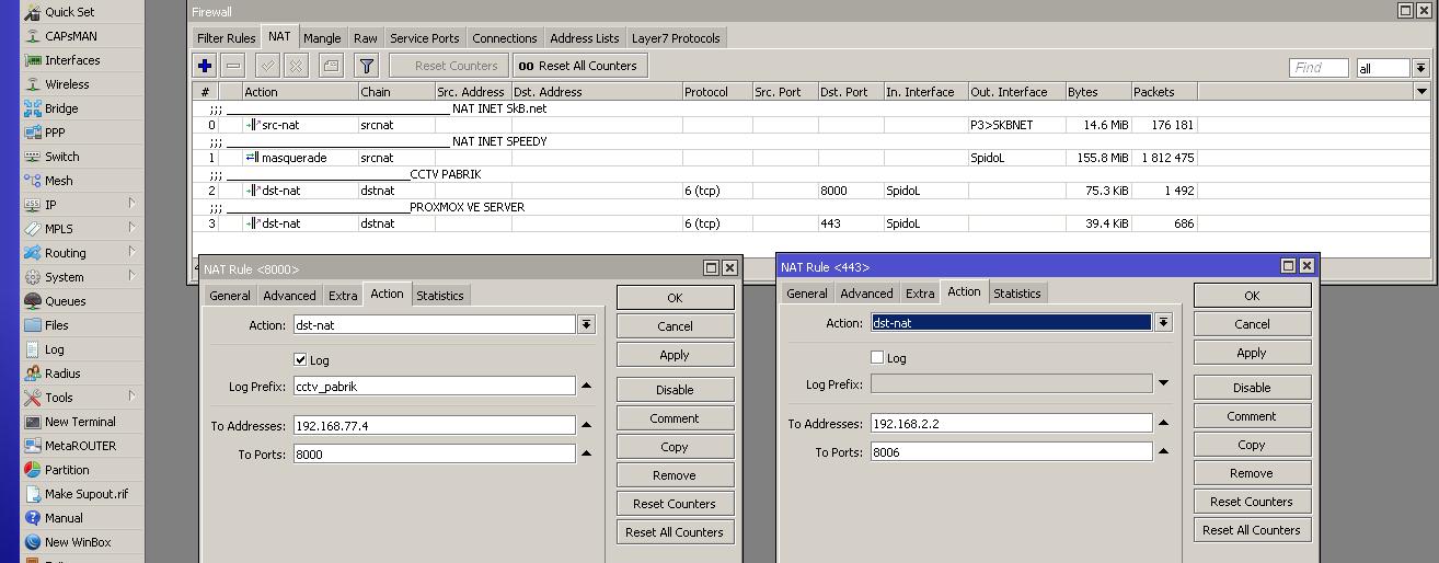 cara menggunakan port forwarding pada mikrotik Router OS