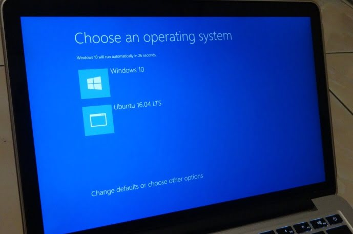 menu dualbooting menggunakan windows bootloader