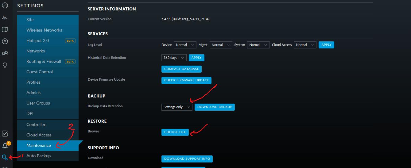 cara backup dan restore config setting unifi controller