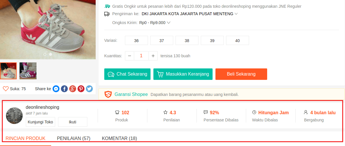 Reputasi seller pada e-commerce C2C