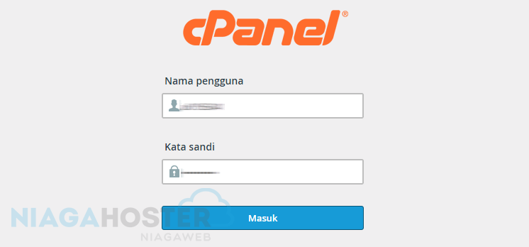 menu login ke cpanel web hosting