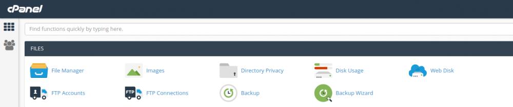 cara backup website menggunakan CPANEL