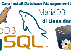 memahami data database dbms dan tutorial cara install mariaDB MySQL di Windows dan Linux