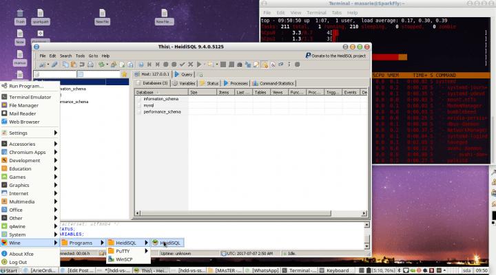 SQL GUI manager linux HeidiSQL