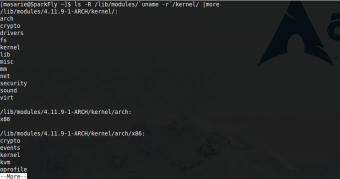 melihat driver yang terinstall pada linux dengan terminal emulator