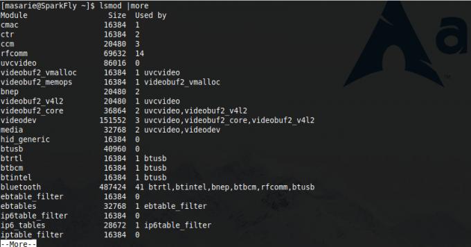 melihat driver yang sedang aktif diload ke kernel pada linux