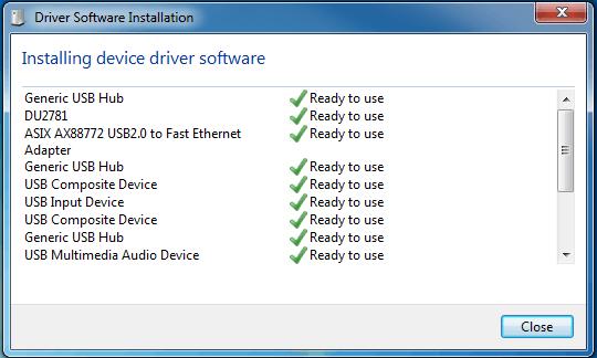 installasi driver otomatis pada windows