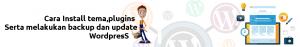 cara setting Tema,Plugins,Backup dan Update WordPress