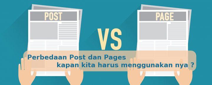 Perbedaan Post dan Pages Pada Wordpress