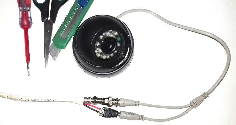 cara memasang konektor dan kamera cctv