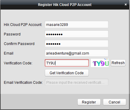 register account cloud access p2p via aplikasi komputer