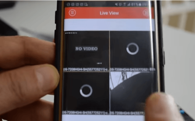 Melihat dan mengakses DVR CCTV online menggunakan aplikasi android dari HP