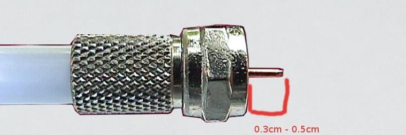 panduan pengukuran pemotongan panjang inner cooper konektor cctv
