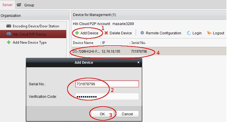 menambahkan DVR CCTV online pada aplikasi iVMS PC