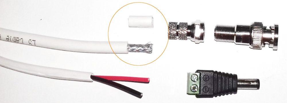 mengupas kabel coaxial rg59 untuk memasang konektor cctv