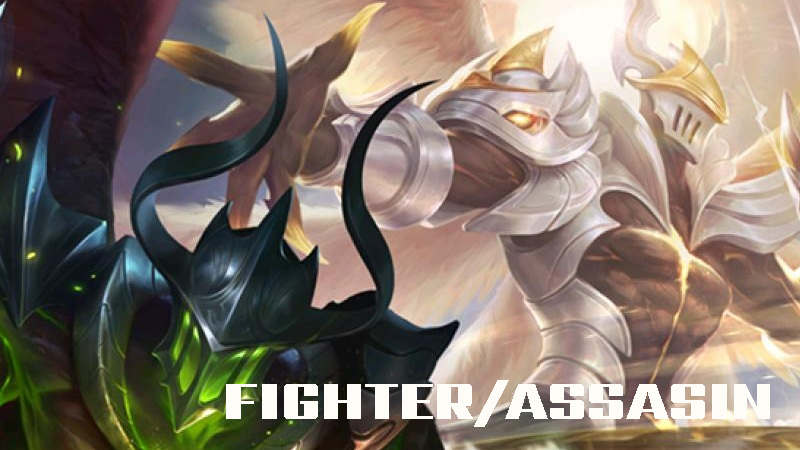 tugas dan tanggung jawab serta cara memainkan fighter/assasin hero di game mobile legend dan Arena of Valor AoV