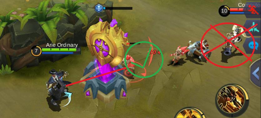 bunuh minion musuh terlebih dahulu untuk mempertahankan tower di game mobile legend dan arena of valor AoV