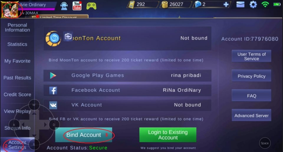 mengamankan akun mobile legends bang bang