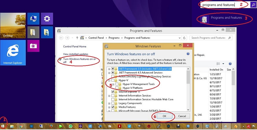 cara disable hyper v pada windows 8 keatas