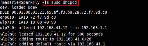 ip dhcp linux dari dhcp server