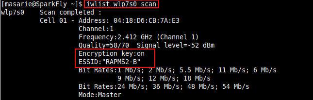 perintah linux untuk scann wifi hotspot