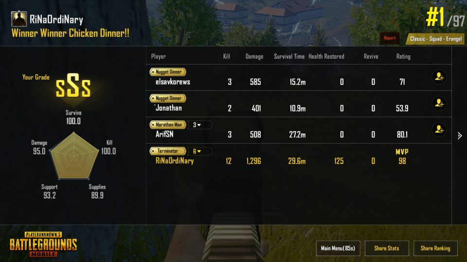 cara menang PUBG mobile Mudah winner chicken dinner