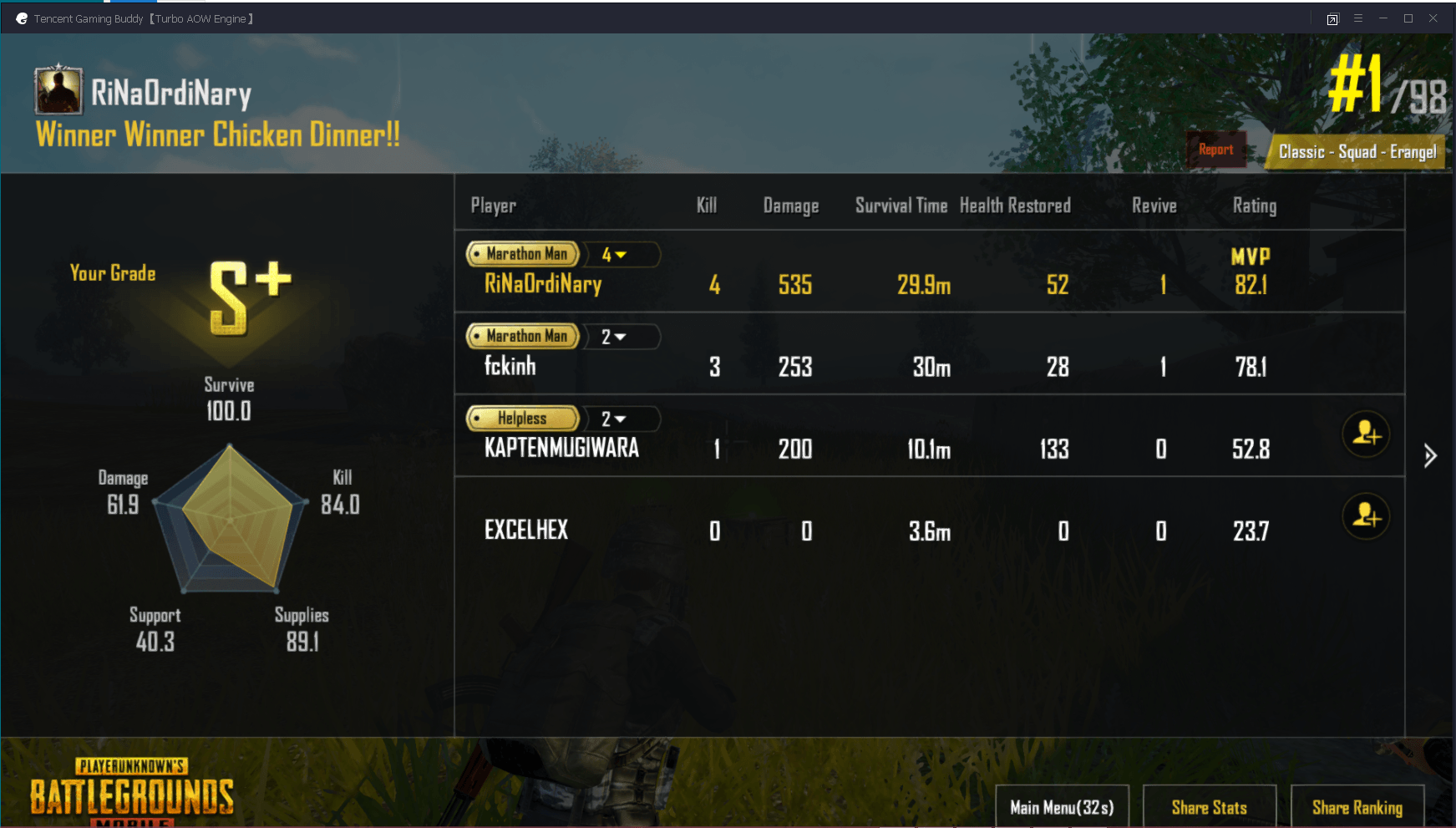 cara mudah menang PUBG mobile winner chicken dinner